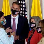 La Vicepresidenta y Canciller Martha Lucia Ramírez  se reunio Con la senadora Joni Ernst  y los representantes Randy Feenstra y Lisa McClain,