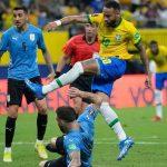 Neymar Jr en el triunfo de Brasil ante Uruguay