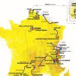 Mapa del recorrido del Tour de Francia 2022