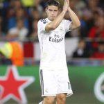 James celebra primer gol  oficial con el real
