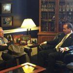 El expresidente sostuvo una reunión con el congresista republicano Mario Diaz-Balart00