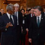 Intercambio de ideas entre el Presidente Santos y Kofi Annan