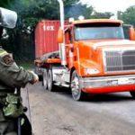 Paro Camionero -Policia