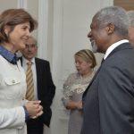 Canciller y  Kofi Annan.