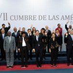 Foto oficial de la VII Cumbre de las Américas, realizada en Ciudad de Panamá