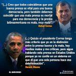 La Prensa Latinoamericana es muy Mala Correa