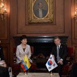 Reunión de Presidentes y Delegaciones de Corea y Colombia