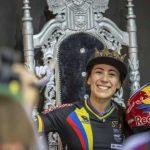 Mariana Pajón oro en la contrarreloj de la Copa Mundo BMX. La colombiana registró un tiempo de 31 segundos y 975 milésimas para dejar en la segunda posición a la australiana Caroline BuchananFoto. UCI BMX Supercross