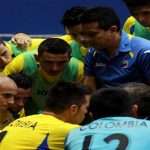Selección Colombia de Futsal adelante