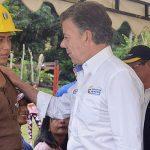 Diálogo del Presidente Santos con familiares de mineros en Riosucio, Caldas
