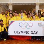 Entrega del Pabellón Nacional a la delegación colombiana que irá a los Juegos Panamericanos en Toronto3