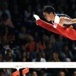 El gimnasta cucuteño Jossimar Calvo, ganador de tres oros. / Fotos: AFP y COC