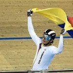 Fabián Puerta celebra su triunfo.