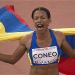 En la prueba de 1.500 metros planos femenino, la atleta colombiana se adjudicó la presea.