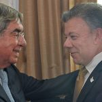 He venido a alentar al Presidente Santos en su lucha, expresó Oscar Arias