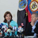 Durante la rueda de prensa la Canciller, María Ángela Holguín, dijo que fue importante que la OEA constatará la situación de la frontera