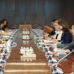 Canciller María Ángela Holguín en reunión con el Secretario General de Naciones Unidas