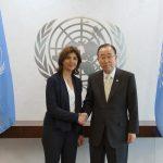 Canciller María Ángela Holguín tras su reunión con el Secretario General de Naciones Unidas