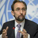 El alto comisionado de Naciones Unidas para los Derechos Humanos, Zeid Ra'ad al Hussein