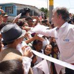 En Cubará, Boyacá, el Presidente Juan Manuel Santos