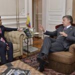Manuel Santos recibió este jueves al gobernador electo de Cundinamarca, Jorge Emilio Rey