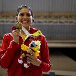 Saskia Loretta van Erven García, ganó oro en los XX Juegos Nacionales, en esgrima, en la modalidad de espada.