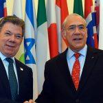 Presidente Juan Manuel Santos y el Secretario General de la Organización para la Cooperación y el Desarrollo Económicos (OCDE),