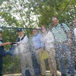 En Santa Marta, el Jefe del Estado puso en funcionamiento el pozo El Mayor, junto con los pozos Tomo 4 y el Pozo de la Cárcel, que están conectados a la red del acueducto y contribuirán a mejorar el servicio de agua potable en la capital del Magdalena.