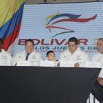 Firma de la solicitud de las sedes de los Juegos Nacionales y Paranacionales de 2019, por parte del alcalde de Cartagena, Manolo Duque, y del gobernador de Bolívar, Dumek Turbay