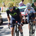 Winner Anacona y Nairo Quintana, ciclistas del Team Movistar.