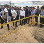 Primera piedra para la construcción del enlace a desnivel en la glorieta La Mesa-Mosquera