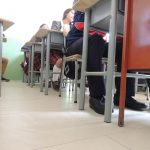 seguros en clase, ASI QUEDARON LOS SALONES DE COLROSARIO