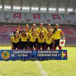 Selección colombiana  femenina de fútbol Sub' 17.