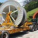 Carretes de cable e insumos para reparación de central Guatapé