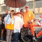 La ciclovía fue naranja