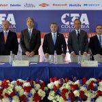 Al clausurar la asamblea general del Consejo de Empresas Americanas (CEA), hoy en Bogotá, el Presidente Juan Manuel Santos se refirió a los avances y retos de Colombia en materia de paz y economía.