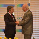 Presidente del Concejo de Bogotá Roberto Hinestrosa Rey y Javier Darío Restrepo2