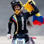 Mariana Pajon en el Mundial de BMX en Medellín