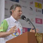 La paz nos va a permitir hacer deporte y el deporte nos va a permitir construir paz Presidente Santos