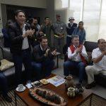 """""""Gran día para el deporte colombiano"""", expresó el Presidente luego de que en la penúltima etapa de la Vuelta a España, Atapuma fue tercero, Quintana se consolidó en el liderato, y Esteban Chávez alcanzó el tercer puesto de la prueba. Foto: Juan David Tena - SIG"""