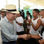El Jefe del Estado estuvo en La Carmelita, Puerto Asís, donde afirmó que con el ingreso de casi 7 mil miembros de las Farc a esos lugares comienza el proceso de dejación de armas y reinserción a la vida civil.