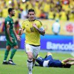 James Celebra Gol ante Bolivia 230317