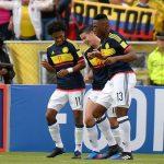 Colombia celebra gol de James ante Ecuador 280317