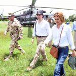 Ministra de Defensa de España, María Doloes de Cospedal visitó el campamento de la ONU de la zona de Monitoreo y Verificación de los acuerdos con las Farc