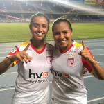 Liana Salazar11 y leicy Santos10,