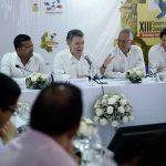 El Presidente Juan Manuel Santos encabeza el acto de clausura de la XIII Cumbre de Ciudades Capitales.