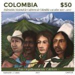 libro y estampilla conmemorativos a los 90 años de la Federación Nacional de Cafeteros