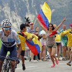Bandera de Colombia en el Tour