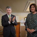 Ante el presidente Juan Manuel Santos Calderón asumió la nueva ministra de Comercio, Industria y Turismo, María Lorena Gutiérrez.