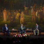 El Presidente Santos y expresidente Ernesto Samper participaron en el conversatorio 'Papel de la cultura en el escenario del posconflicto', realizado con motivo de los 20 años del Ministerio de Cultura.